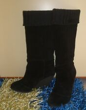 Scarpe donna stivali Fornarina neri in camoscio con imbottiura in lana 37