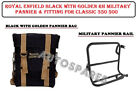 Royal Enfield Black With Golden RH Military Pannier& Fitting For Classic 350 500