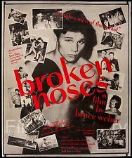 "BROKEN NOSES 1987 Rare! 40""x50"" US boxing doc. poster Bruce Weber FilmArtGallery"