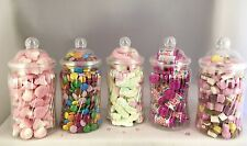 5 x Cute Spiral Plastic Jars DIY Candy Sweet Buffet Wedding/Party