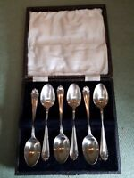 Set of Antique 1900s Silver Plated Tea Spoons in Original Case