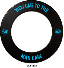 WINMAU Professional Dart Board Surround one piece Black Welcome to The Man Cave
