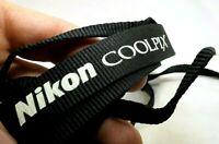 NIKON COOLPIX Neck Strap Camera 2cm wide black OEM Genuine