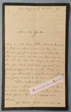 L.A.S 1871 de VIGIER - MONTESQUIEU - (Mézin) à identifier - à M. Labat - Lettre