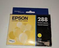New Genuine Epson 288 Yellow Ink Cartridge Dura-Brite Ultra Ink, exp: 01/2021