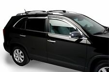 Chrome Trim Window Visors - Fits Kia Sportage 2011-2016 (Tape on)
