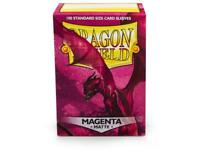 Magenta Matte 100ct Dragon Shield Sleeves Standard Size FREE SHIPPING 10% OFF 2+