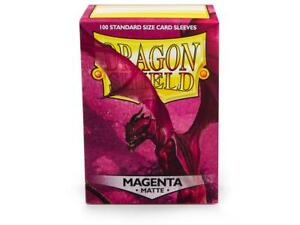 Matte Magenta 100ct Dragon Shield Sleeves Standard Size FREE SHIPPING 10% OFF 2+