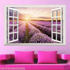 Wandtattoo Wandaufkleber Fenster Lavendel Wohnzimmer Schlafzimmer Küche Sticker