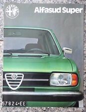 Alfasud Super brochure - (early 1980's)
