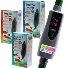 Acuario en línea FILTRO DE BOTE EXTERNO Calentador de 150/300/500 vatios y 12, 16 mm Manguera