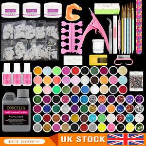 Acrylic Nail Kit Acrylic Powder and Liquid Set with Nail Brush Manicure Kit Tips