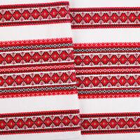 Tablecloth Ukrainian ornament Wedding decor White red black St Patricks Day Sale