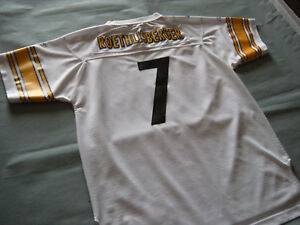 PITTSBURG STEELERS Ben Roethlisberger Football JERSEY Youth XL