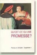 Qu'est-ce qu'Une Promesse? (Poetica Et Analytica), , Aage Brandt, Per, Very Good