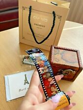 New Camera Film Roll Keychain Vintage Couple Customize Unique Photos Gift Box