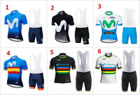 new M short Sleeve Bicycle Men's Bike Cycling Jersey Shirt Shorts Set