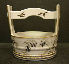 Japanese Porcelain Water Bucket w/ snow scene