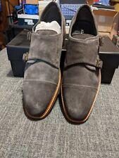 Alfani Darius Monk-Strap Men's Oxfords Cap-Toe Shoes Size 9 Color Grey Suede