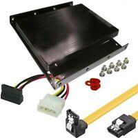 SSD Montage Rahmen Einbaurahmen Schrauben kurzes SATA Kabel WiNKEL Strom Adapter