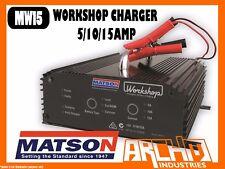 MATSON MW15 - WORKSHOP CHARGER 5/10/15 AMP - BATTERY VOLTAGE LED DISPLAY