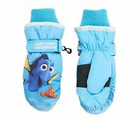 Disney Pixar Finding Dory Keep Swimming Girls Ski Mittens Blue One Size