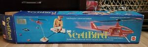 1970's VERTIBIRD Red Bird Set Flying Copter and Blue Box VINTAGE MATTEL