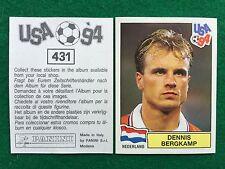 USA 94 1994 n 431 DENNIS BERGKAMP OLANDA NEDERLAND Figurina Sticker Panini (NEW)