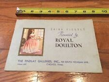 Vintage Royal Doulton China Figurine Brochure Findlay Galleries Chicago