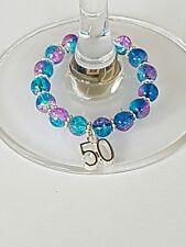 50th Bicchiere Di Vino Charm, ANNIVERSARIO BOMBONIERA, speciale compleanno