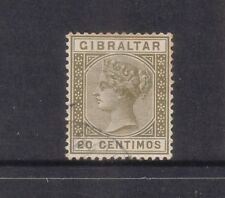 GIBRALTAR....  1889 QV   20c olive green  used....cv £70