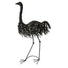LARGE STANDING EMU ANIMAL METAL GARDEN STATUE ORNAMENT SCULPTURE ART DECOR