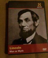 LINCOLN MAN OR MYTH History Channel DVD Civil War Slavery FREE US SHIPPING!!