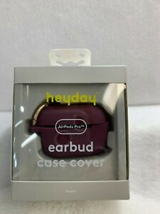 heyday  AirPod Pro Silicone Earbud Case Cover -Burgandy