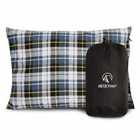 REDCAMP Outdoor Camping Pillow Lightweight, Flannel Travel Pillow Cases, Removab