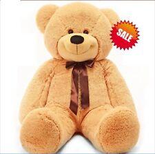 1.6m 160cm Tall Giant Huge Lovely Teddy Bear Stuffed Plush Doll Gift Light Brown
