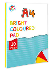 Kids Create A4 Bright Coloured Pad 30 Page Primary Colour Drawing Craft Book