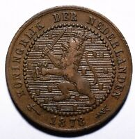 1878 Netherlands One 1 Cent - Willem III / Wilhelmina - Lot 909