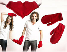 Lovers Couples Red Heart Shaped Gloves Mitten Gift Present For Valentine's Day