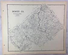 Antique General Land Office Map Dewitt County Texas Showing Plats ++
