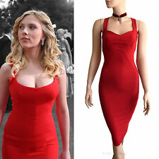 DOLCE & GABBANA D&G red square neck push up Scarlett Johansson DRESS size 8 4 40