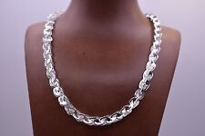 Technibond Interlocked Triangle Byzantine Chain Necklace Sterling Silver 925