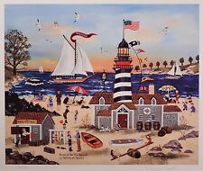 """Wooster Scott """"Beacon on the Beach"""" Signed & Limited Edition Litho, Framed  MINT"""
