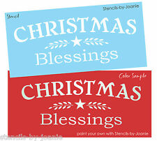 Holiday STENCIL Christmas Blessings Willow Branch Star Country Primitive Signs