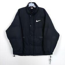 Nike Vintage 1990s Men's Black Down Puffer Jacket Size XL