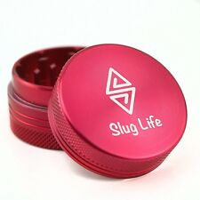 Slug Life Herb Grinder 2 Parts 1.5 Inch (Red)