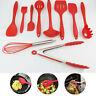 10Pcs Kitchen Silicone Cooking Utensils Set Non-stick Spatula Turner Gadget Tool
