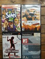 Lot of 4 PS2 Games: Dance Revolution SuperNova, Music Gener 2, SIMS 2 & Singstar