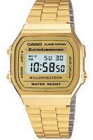 CASIO MEN'S GOLD TONE STAINLESS STEEL DIGITAL WATCH A168WG