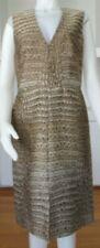 Stella McCartney Crocodile Jacquard Sleeveless Sheath Dress - 44 IT  NWT $1,350
